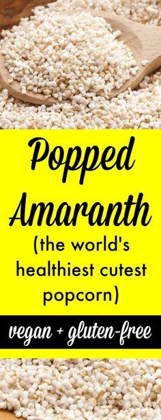 Popped Amaranth (the world's healthiest, cutest popcorn)  http://tesschallis.com/recipes/2016/11/8/how-to-make-popped-amaranth-the-worlds-tiniest-cutest-popcorn #vegan #glutenfree