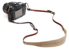 The Lima Waxed Canvas and Leather Camera Strap