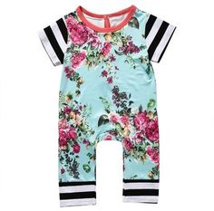 Cheap newborn baby, Buy Quality jumpsuit kids directly from China rompers rompers Suppliers: Newborn Baby Girls Boys Clothing Romper Short Sleeve Flower Cute Jumpsuit Kids Baby Girl Clothes Outfit Summer Newborn Outfits, Toddler Outfits, Baby Boy Outfits, Kids Outfits, Newborn Shoes, Cute Newborn Baby Girl, Baby Girl Romper, Baby Girls, Infant Girls