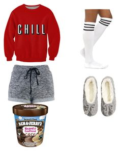 """netflix and chill."" by emmarobles ❤ liked on Polyvore featuring H&M"