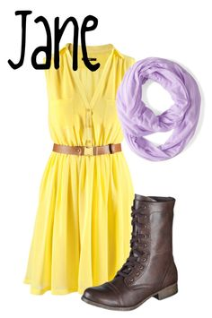 """Jane"" by disney-bound-nerd ❤ liked on Polyvore"