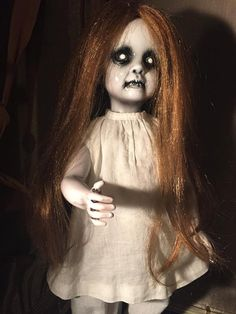 Creepy Horror Doll Girl in the Closet by OriginalSinDesign on Etsy