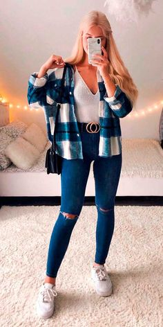 Trendy Fall Outfits, Casual School Outfits, Winter Fashion Outfits, Retro Outfits, Cute Casual Outfits, Outfits For Teens, Stylish Outfits, Trendy Teen Fashion, Simple Outfits