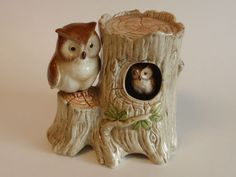 Vintage Hand Painted Ceramic Otagiri Owl Music Box Figural Light Up My Life 1983 | eBay