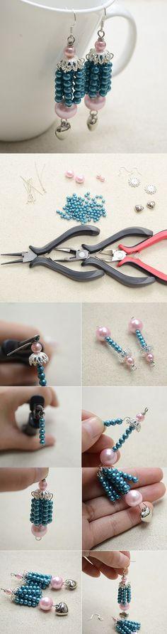 #Beebeecraft #earrings #diy #tutorial #jewelry #jewelry #pearl