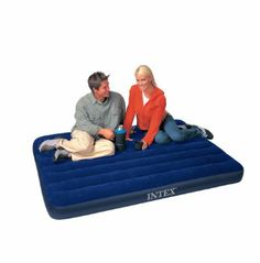 Amazon.com : Intex Classic Downy Full Airbed : Camping Air Mattresses : Sports & Outdoors (20)