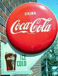 The great excellent poster of #CocaCola it is a old Tin sign