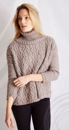 59 Ideas knitting patterns sweaters easy fashion outfits for 2019 Cable Knitting Patterns, Knitting Designs, Crochet Patterns, Creative Knitting, Easy Knitting, Lace Sweater, Sweater Fashion, Sweaters For Women, Pullover