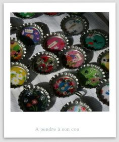 Capsules de bouteille pour colliers, aimants, barrettes... by Lison la bricole
