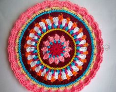 Crochet Overlay Mandala No. 1 Pattern PDF by CAROcreated on Etsy