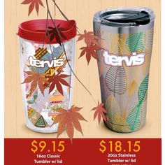 It's back - #Tervis Tumblers rolls out it's Q4 Promotion which includes the very popular #madeintheusa 16oz Tumbler with zero Set Up Charge. Prefer Stainless Steel? There's a 20oz on Promotion too! Two of the best and ready for Holiday Libations! #fall #holiday #promotion Tervis Tumbler, Insulated Tumblers, Host A Party, Go Green, Cold Drinks, Promotion, Zero, Rolls, Stainless Steel