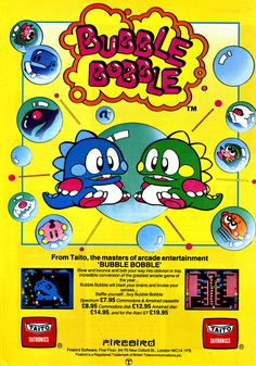 Bubble Bobble, one of my personal favorite games :)