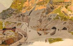 The #Milano 1906 Expo marked the opening of the Simplon Tunnel connecting Switzerland and Italy, through the Alps. #Expo2015 #ExpoStory
