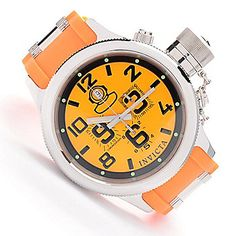 Invicta 52mm Russian Diver Quinotaur Quartz Chronograph Polyurethane Strap Watch