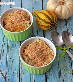 Receta para preparar ramekins de verduras en salsa blanca. Con fotos del paso a paso y consejos de degustación