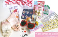 Kitty And Buck: Japan Omiyage Giveaway - Souvenirs for you! Gahh these are adorable, I'm totally crushing over those apple glasses!!