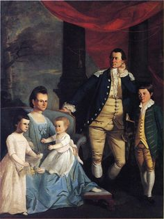 1775 Henry Benbridge (American colonial era artist, 1743-1812). The Archibald Bulloch Family.