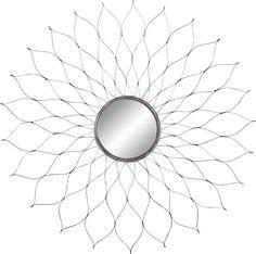 Wanddeko aus Metall und Glas in der Farbe Schwarz/Silber.