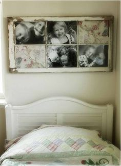 a window frame into a picture frame DIY::Repurposing a window frame into a picture frame. Now I am on a mission to find an old window frameDIY::Repurposing a window frame into a picture frame. Now I am on a mission to find an old window frame Old Window Crafts, Old Picture Frames, Window Picture, Nice Picture, Photo Deco, Creation Deco, Old Windows, Antique Windows, Vintage Windows