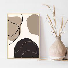 Modern Prints, Modern Wall Art, Above Bed Decor, Mid Century Art, Hand Art, Bedroom Art, Minimalist Art, Abstract Wall Art, Printable Wall Art