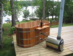 Ok, so not at this house, but if we lived in the country I might like this :) Ofuro Western Red Cedar Hot Tub Soaker