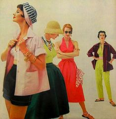 1954 Fashion Photo Women Sportswear Vintage 1950s by Christian Montone, via Flickr