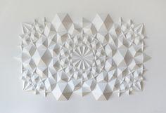 Dynamic Patterns Form Complex Geometric Paper Sculptures Designed byMatthew Shlian