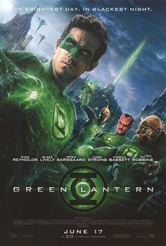 "Green Lantern Movie Poster (27"" x 40"") Double-Sided - I have a superhero themed movie poster collection in my man-cave. Although this wasn't a particularly good movie, it's a kick-ass poster!"