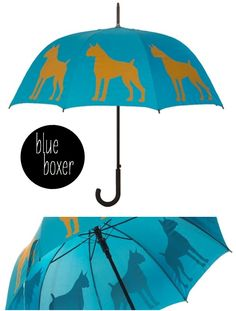 bright cheerful colorful umbrellas with DOGS on them? yes, please!