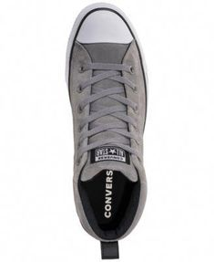 Converse Men s Chuck Taylor Street Mid Varsity Jacket Casual Sneakers -  Silver 11  MensFashionSneakers a03bfb8732