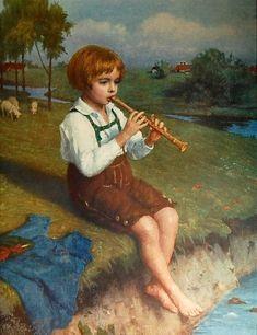 Evening Song  by Simon Glücklich (1863 - 1943, Polish-born German)