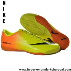 Wholesale Discount Orange Yellow Black Nike Mercurial Vapor IX IC The Most Flexible Running Shoes