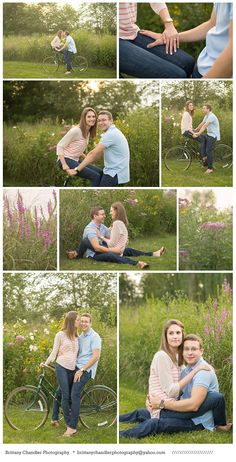 Spring Engagement Photos, Ideas, Poses, Bike   Brittany Chandler Photography
