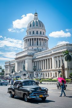 Havana, Cuba--The Capitol, which was a replica of the US Capitol but a few inches taller, on purpose.
