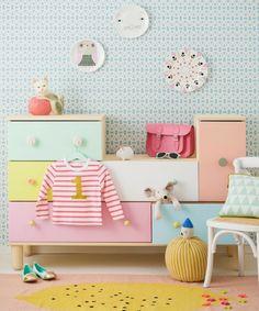 Kinderzimmer-skandinavisch-Stil-Pastellfarben-Kommode