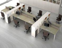 Open plan workstation / modular - JOINT by Alberto Stella Design Manager - ESTEL