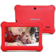Alldaymall Kids Tablet, 1GB & 8GB ( 7 inch, Wi-Fi, Quad Core, Android 4.4, up to 32GB, Safely Kids Mode ) Pink Silicone Case: Amazon.co.uk: Computers & Accessories