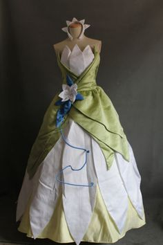 Princess Frog Tiana Costume tailor made adult Cosplay Dress Any Size Gown AZ