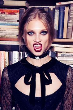 Anna Selezneva Gets Gothic in For Love & Lemons Fall 2013 Ads | Fashion Gone Rogue: The Latest in Editorials and Campaigns