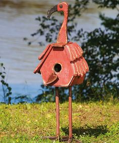 Flamingo Statue/Birdhouse