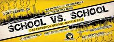 Fr.09.01.   SCHOOL VS SCHOOL   STIFT KEPPEL Q1   Mit Facebookzusage FREE ENTRY & FREE DRINKS bis 22 Uhr   Club Reichwaldz