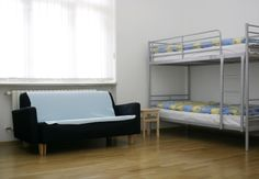 dormitory with lockers