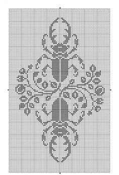 Animals 10 | Free chart for cross-stitch, filet crochet | gancedo.eu