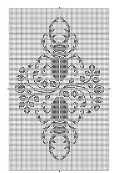 Animals 10 | Free chart for cross-stitch, filet crochet | gancedo.eu