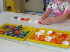 Bugs on a sticky table and other hands-on activities for young visually impaired children can be found on this website.