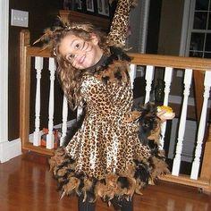 pretty leopard child costume fasching. Black Bedroom Furniture Sets. Home Design Ideas