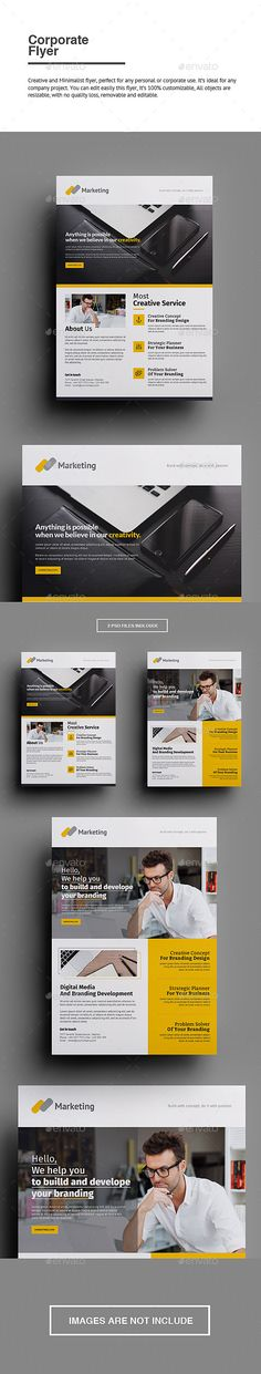 Buy Corporate Flyer by punkl on GraphicRiver. Corporate Flyer Creative and Minimalist flyer, perfect for any personal or corporate use. It's ideal for any company . Corporate Brochure, Corporate Design, Brochure Design, Flyer Design, Print Layout, Layout Design, Web Design, Creative Design, Layout Inspiration