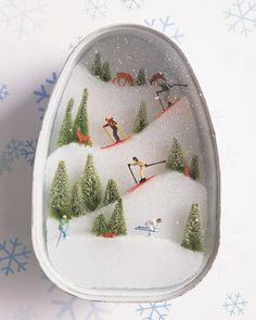 "Mini ""Ski Slopes"" Diorama"