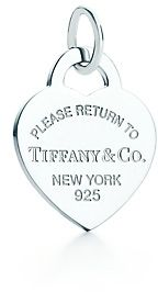 Return to Tiffany™ heart tag charm- got this at a garage sale with the matching chain! Score!