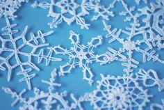 śnieżynki na szydełku
